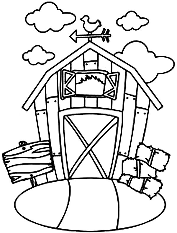 600x790 Barn And Stack Of Rice Straw Coloring Page Color Luna