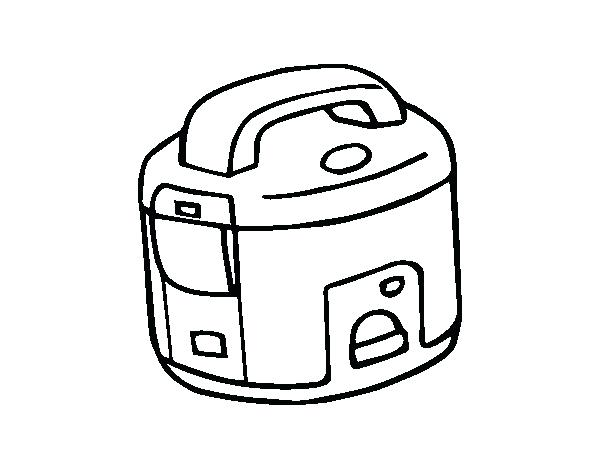 600x470 Rice Coloring Page Rice Cooker Coloring Page Fried Rice Coloring