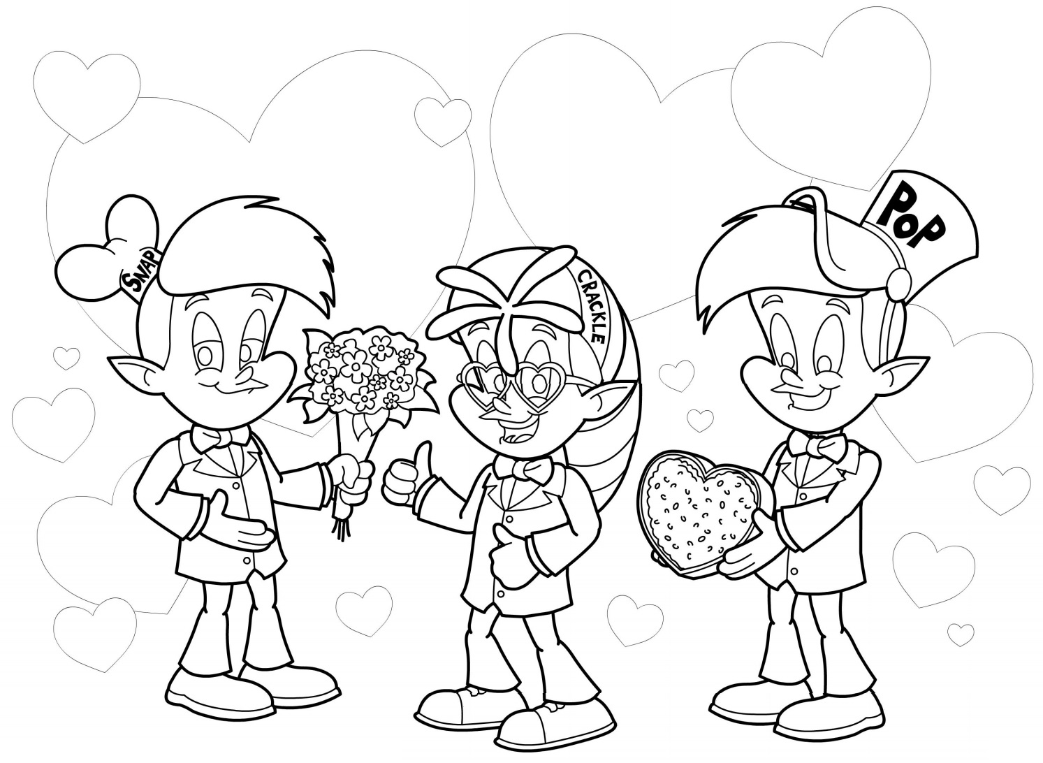 1493x1092 Rice Krispies Characters Snap, Crackle, Pop Valentines Day