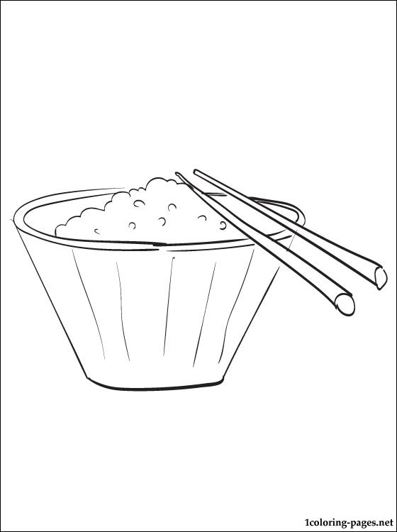 560x750 Bowl Of Rice Coloring Page Coloring Pages