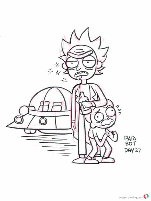 500x666 Rick And Morty Forever And Ever Coloring Pages