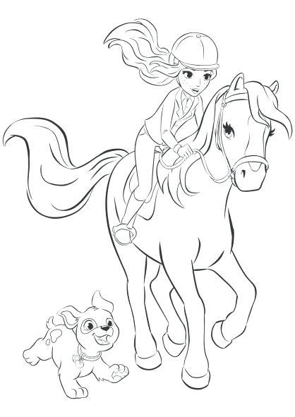 418x591 Barbie Horse Coloring Pages Barbie Horse Barbie Riding Horse