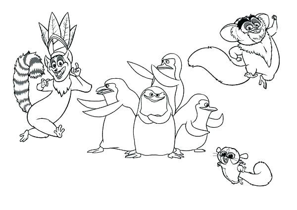 600x424 Lemur Coloring Pages