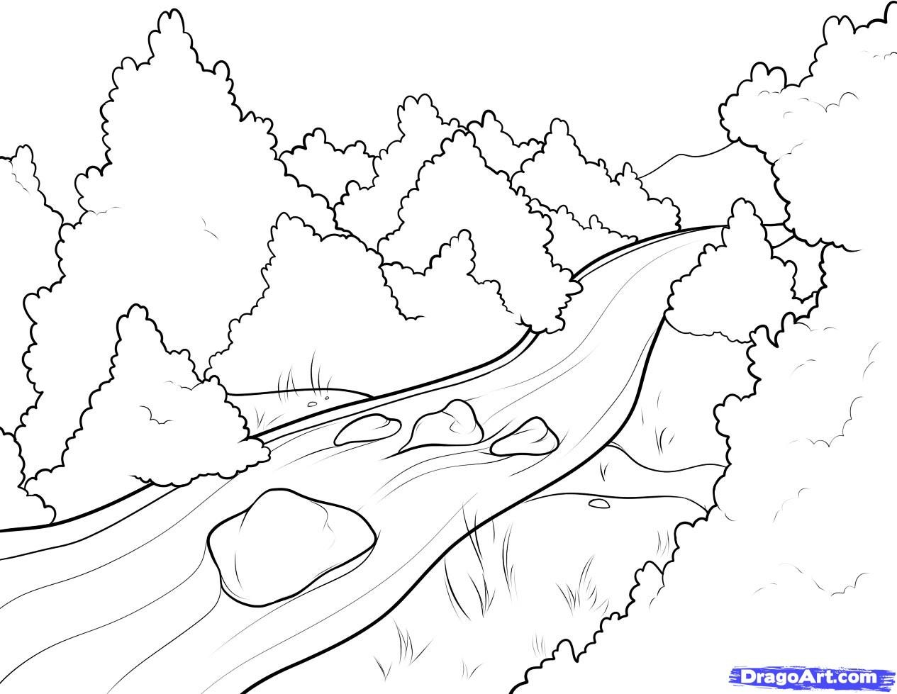 1265x979 River Coloring Pages Printable Beautiful Ideas River Coloring