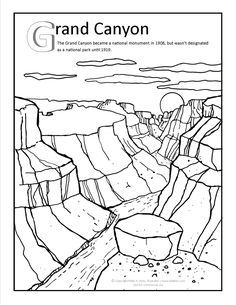 236x305 Grand Canyon Coloring Page