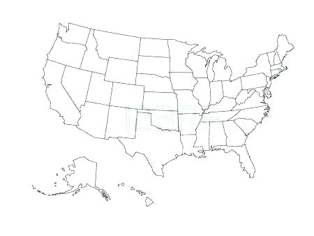 450x338 Map Coloring Page Coloring Map Of The United States Blank Map