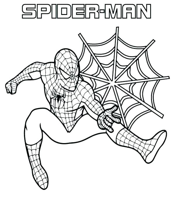 599x679 Coloring Pages Spiderman Beautiful Coloring Pages Online Spiderman
