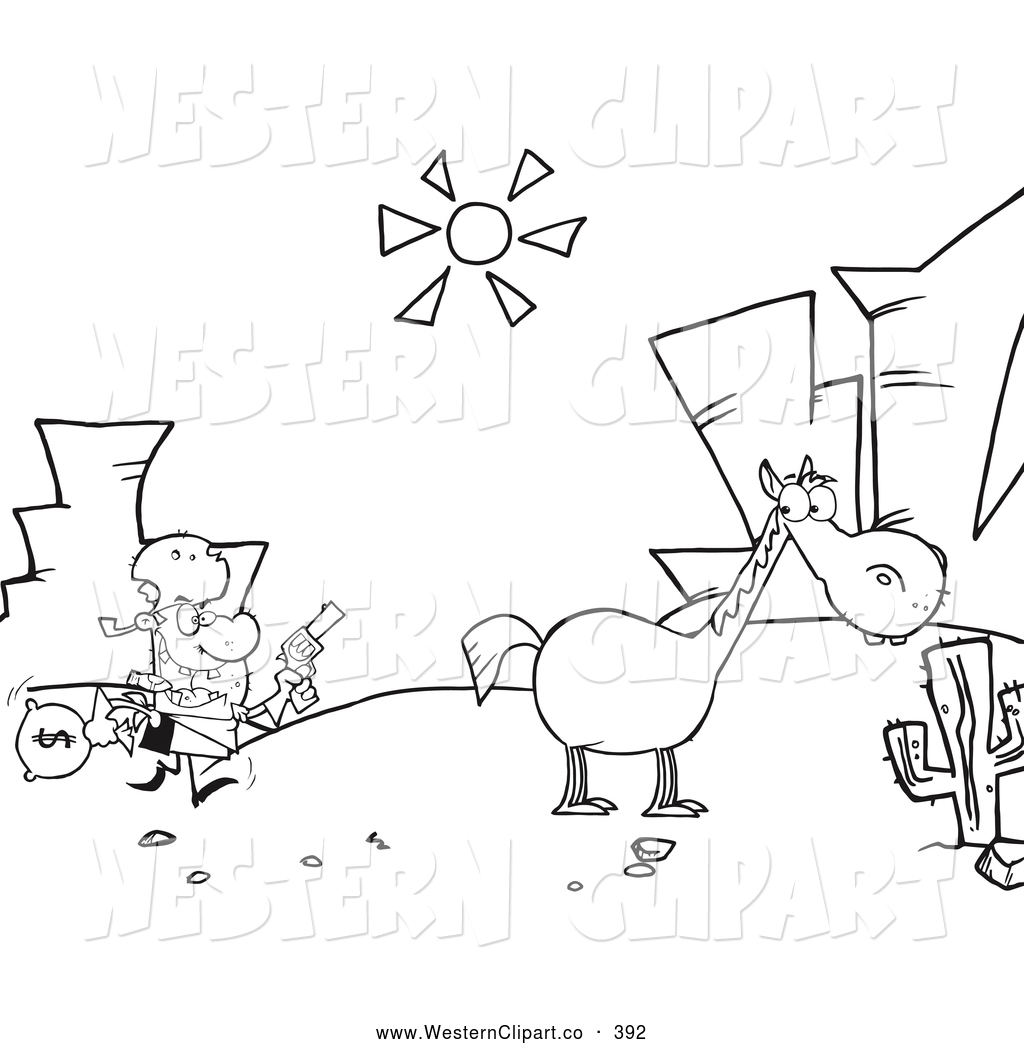 1024x1044 Direct Robber Coloring Pages Vector Western Clip Art Of A Page