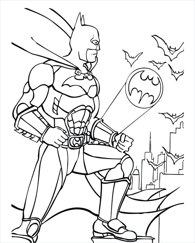 680x850 My Family Fun Batman Coloring Pages Print And Color Your Superhero