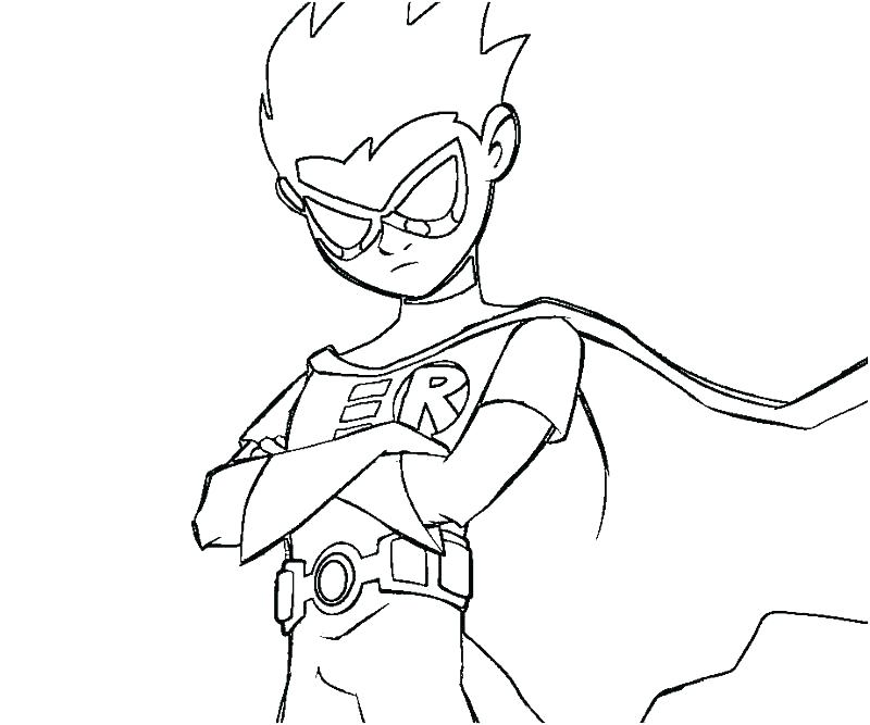 800x667 Robin Coloring Page Robin Coloring Pages Teen Titan Coloring Pages