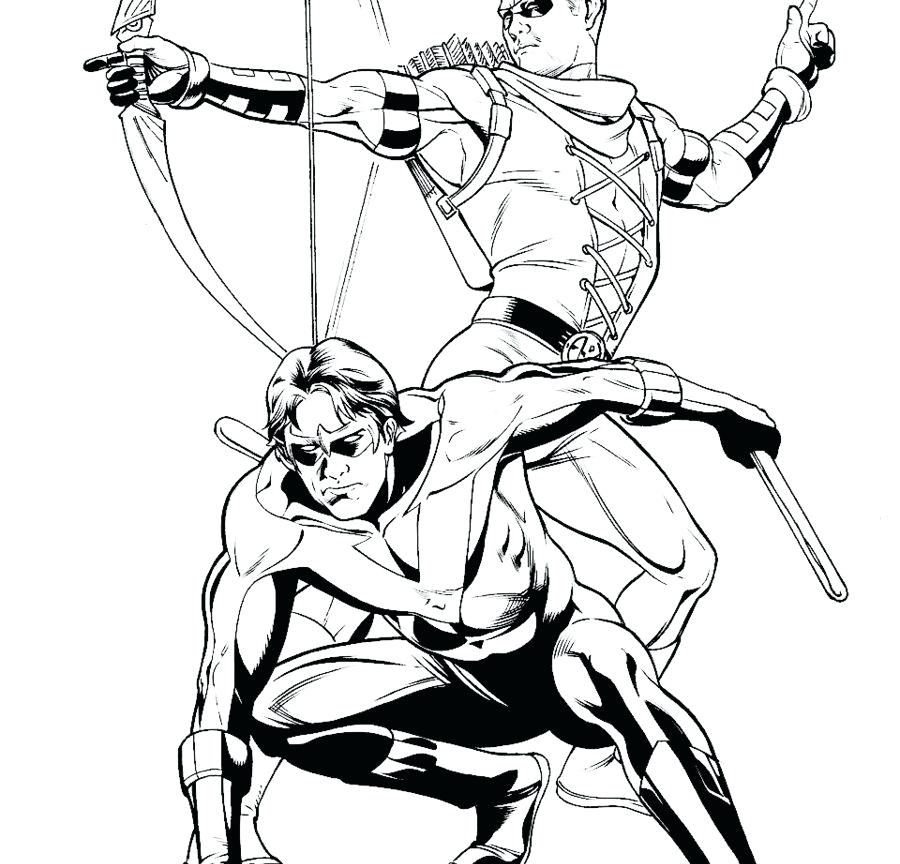 900x864 Superhero Coloring Games Great Robin Coloring Pages Superhero Free
