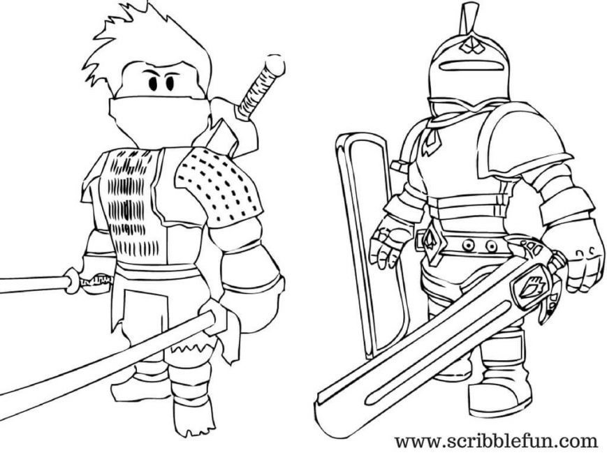 Roblox Coloring Pages at GetDrawings | Free download