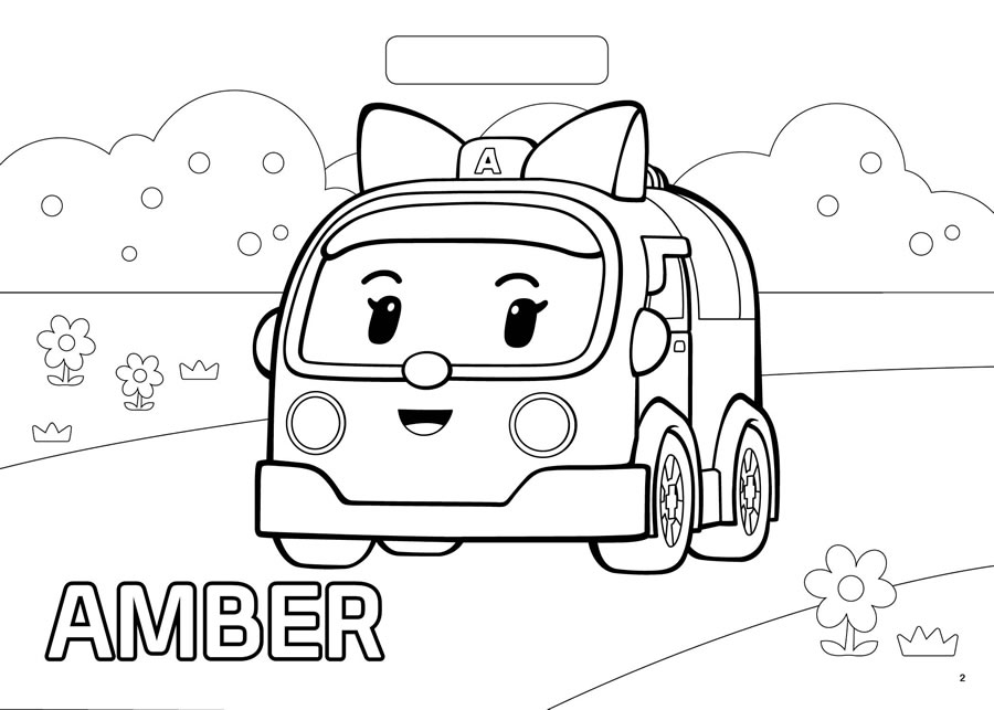 900x643 Robocar Poli Amber Coloring Pages