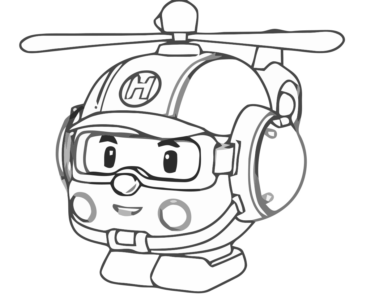 1200x965 Robocar Poli Coloring Pages For Kids