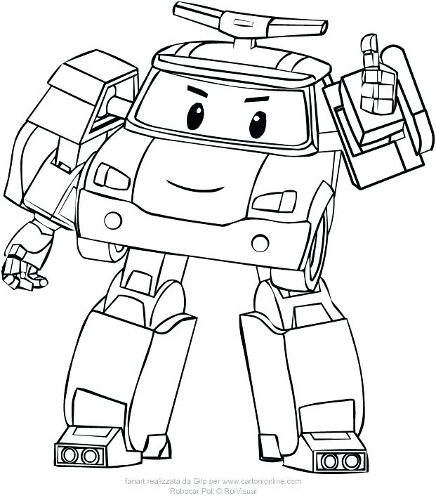 621x709 Robocar Poli Coloring Sheets From Pages