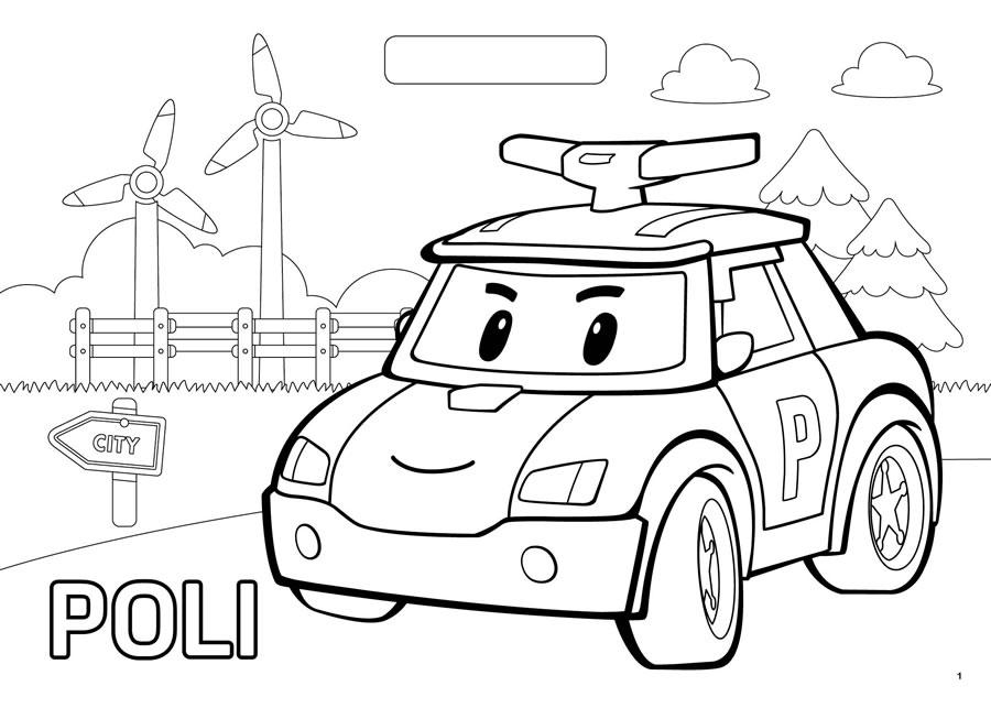 Robocar Poli Coloring Pages At Getdrawings Com Free For Personal