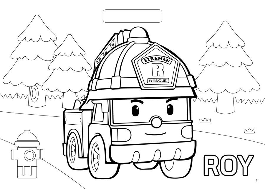900x643 Robocar Poli Roy Coloring Pages