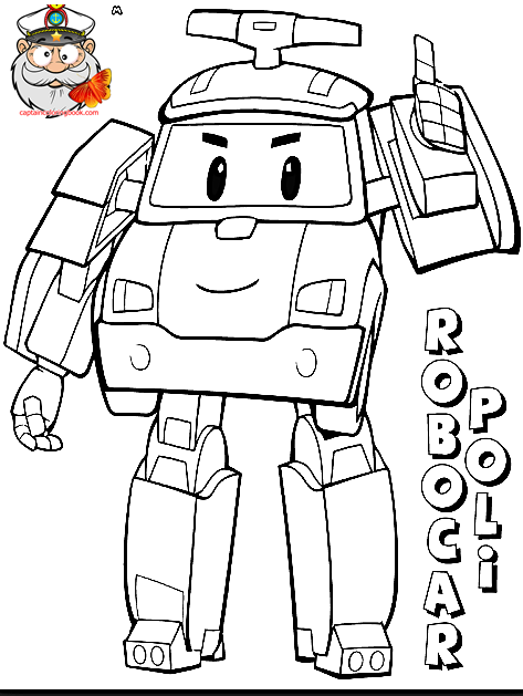 473x629 Robocar Poli Coloring Page