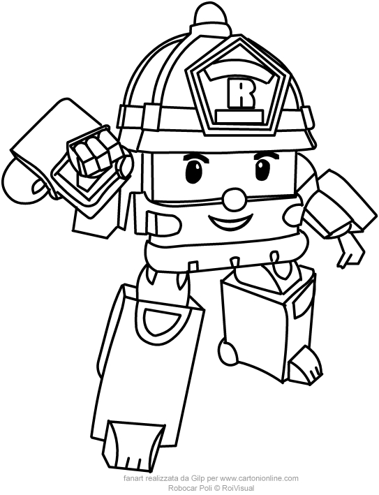 543x709 Roy From Robocar Poli Coloring Pages