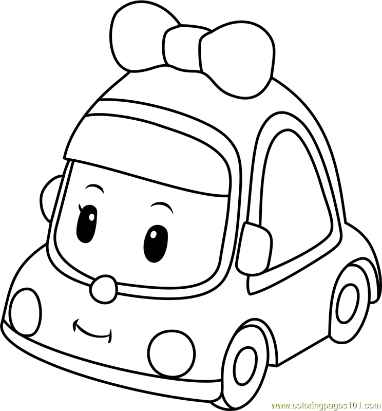 744x800 Mini Coloring Pages Alluring Mini Coloring Page Free Robocar Poli