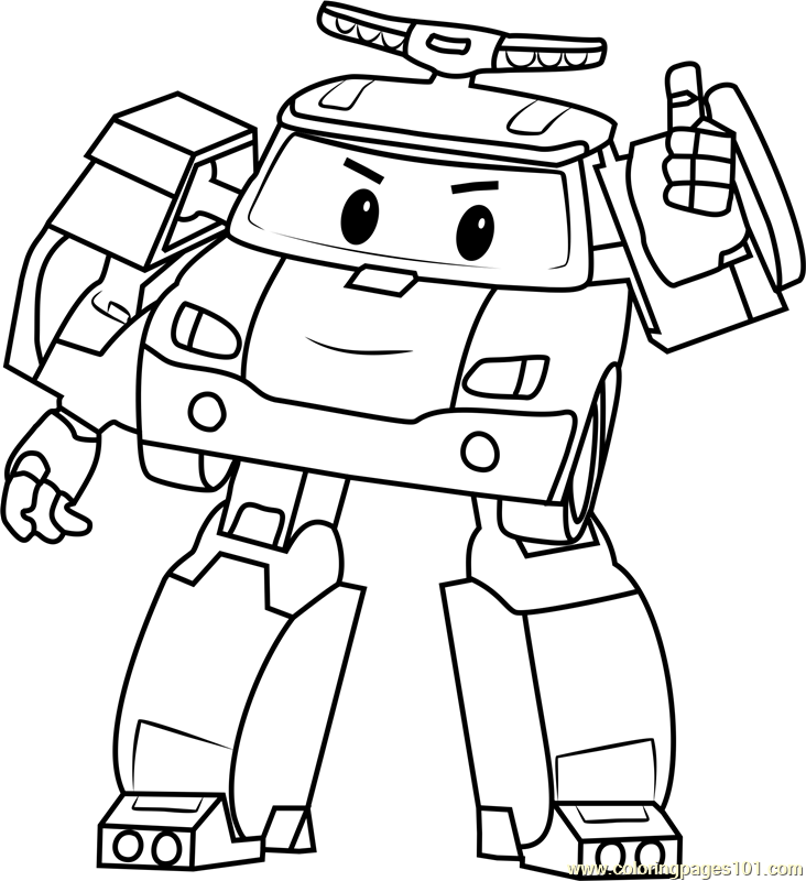 732x800 Poli Coloring Page