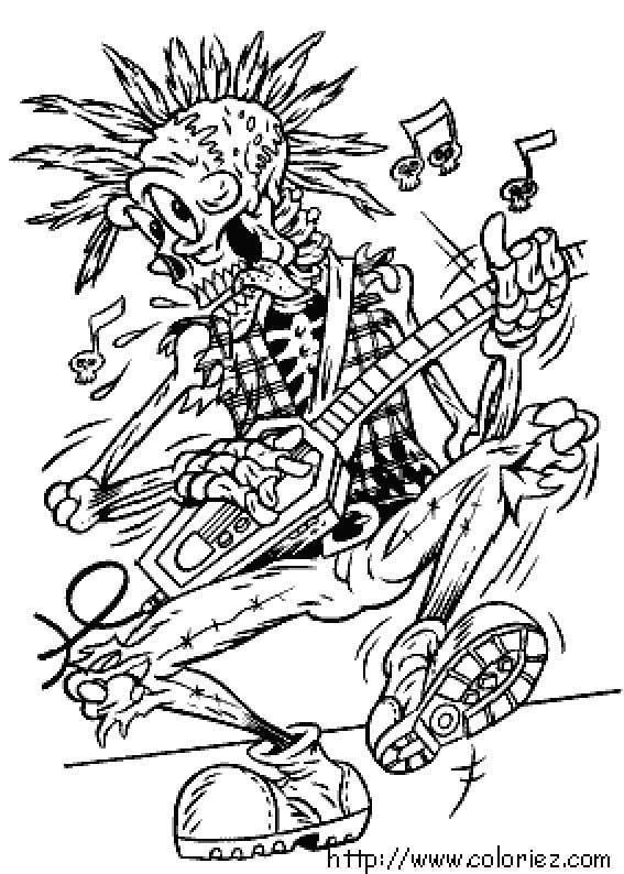 567x794 Coloriage Halloween Rock'n Roll Colouring Mandalas