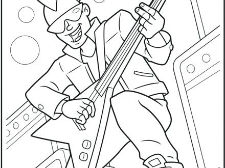 440x330 Rock N Roll Coloring Pages And Home S