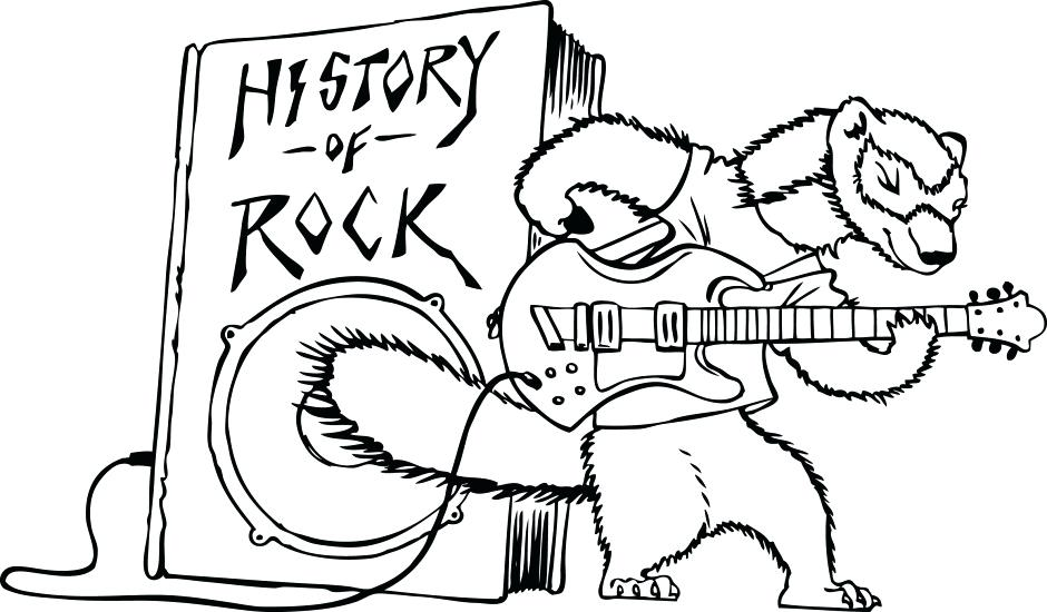 940x550 Rock N Roll Coloring Pages Rocks Coloring Pages Royalty Free Rock