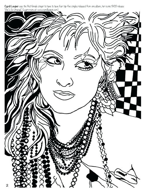 500x652 Rock N Roll Coloring Sheets Wanted Women Who Rock Coloring Book