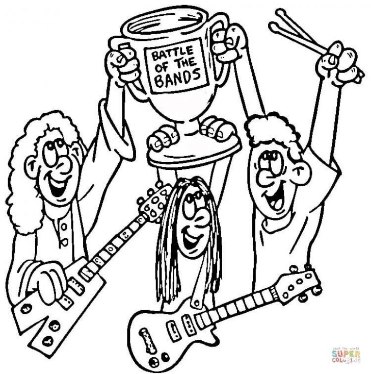 728x733 Rock Band Coloring Pages
