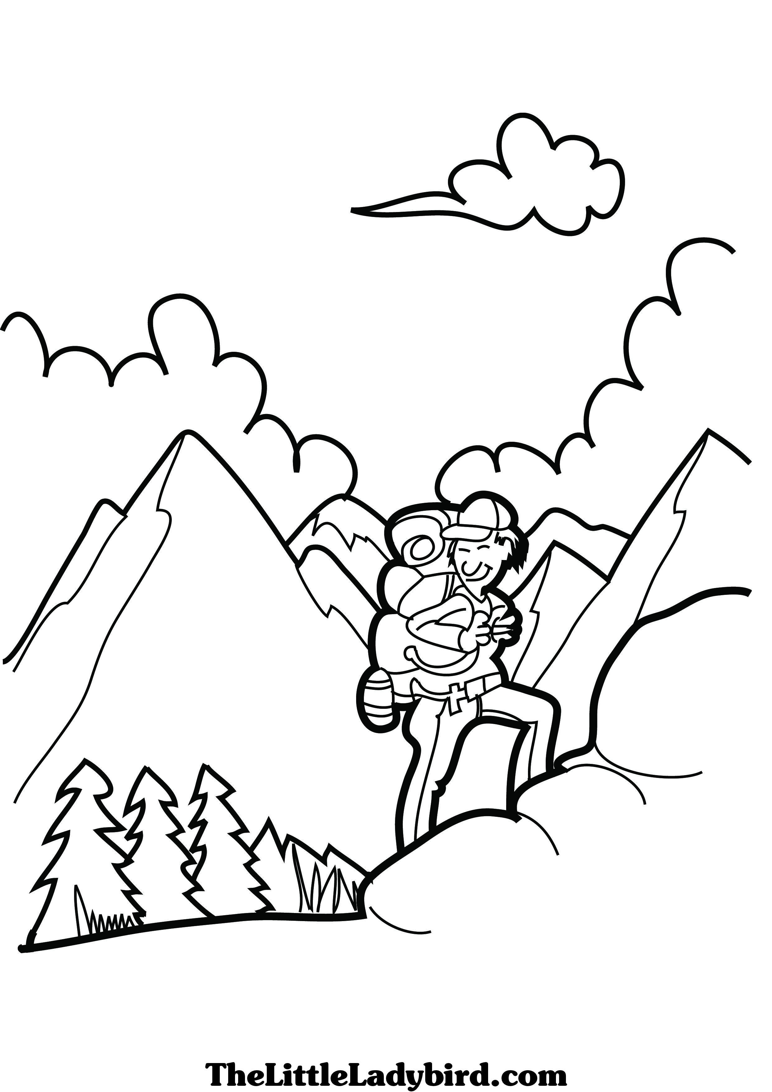 2480x3508 Rare Mountain Climber Coloring Page Climbing P