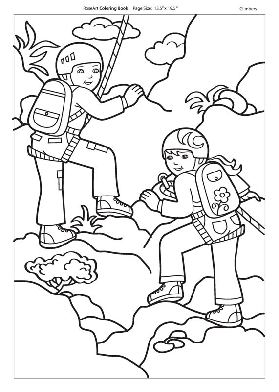 571x800 Rock Climber Coloring Pages, Rock Climbing Coloring Pages