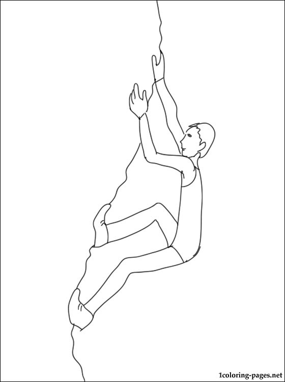 560x750 Rock Climbing Coloring Page Coloring Pages