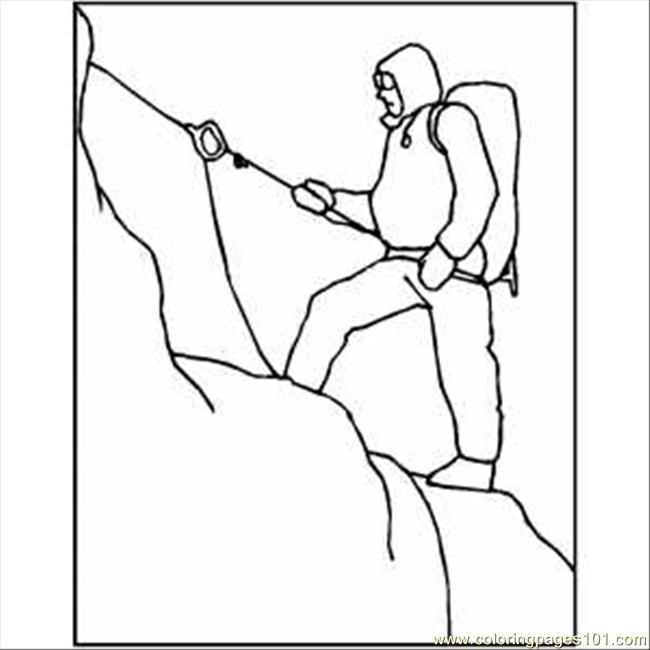650x650 Snow Mountain Climbing Coloring Page