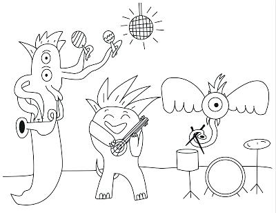 400x308 The Rock Coloring Pages