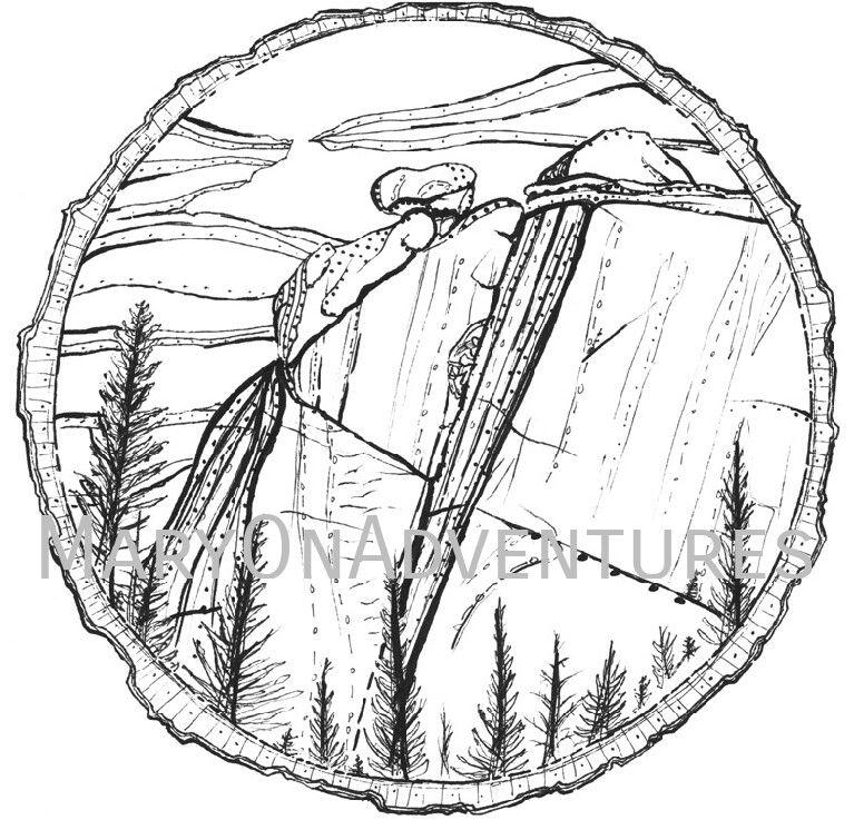 767x737 Vedauwoo Rock Climbing Coloring Page Art Drawing