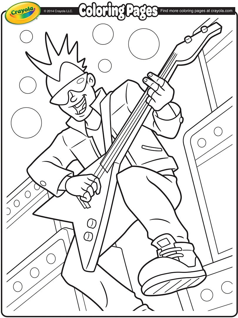 810x1080 Rock Band Coloring Pages
