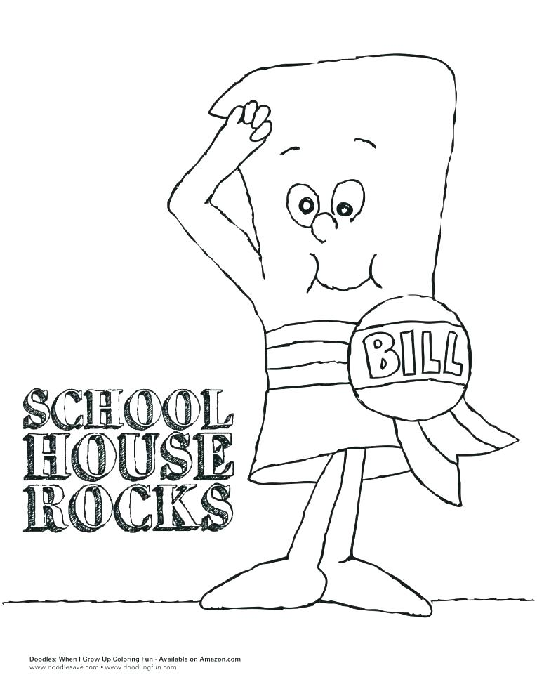 765x991 Schoolhouse Rock Coloring Pages