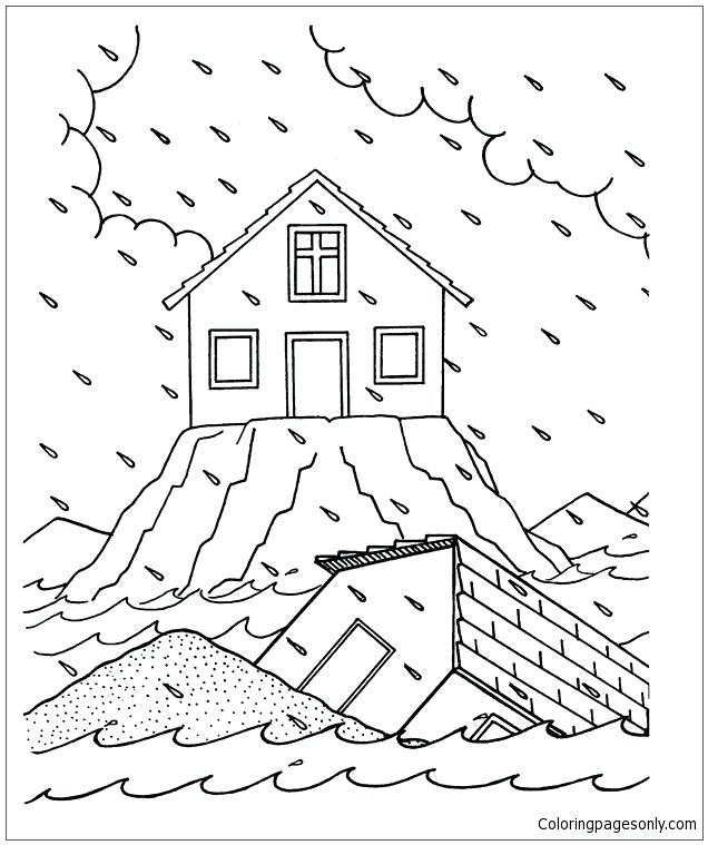 636x759 The Rock Coloring Pages Built His House On The Rock Coloring Page