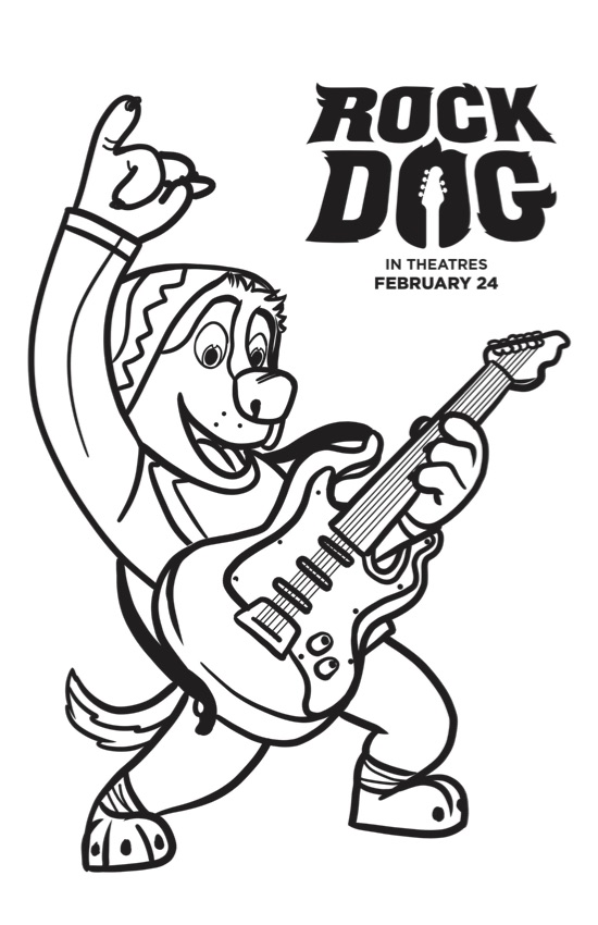 550x850 Free Rock Dog Coloring Pages