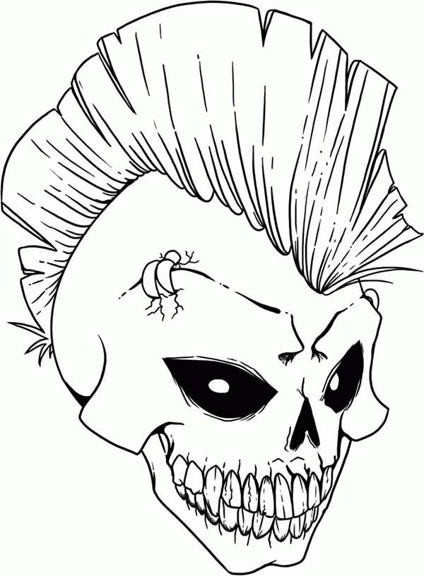 600x816 Free Coloring Pages Of Rock Skull Coloring Pages