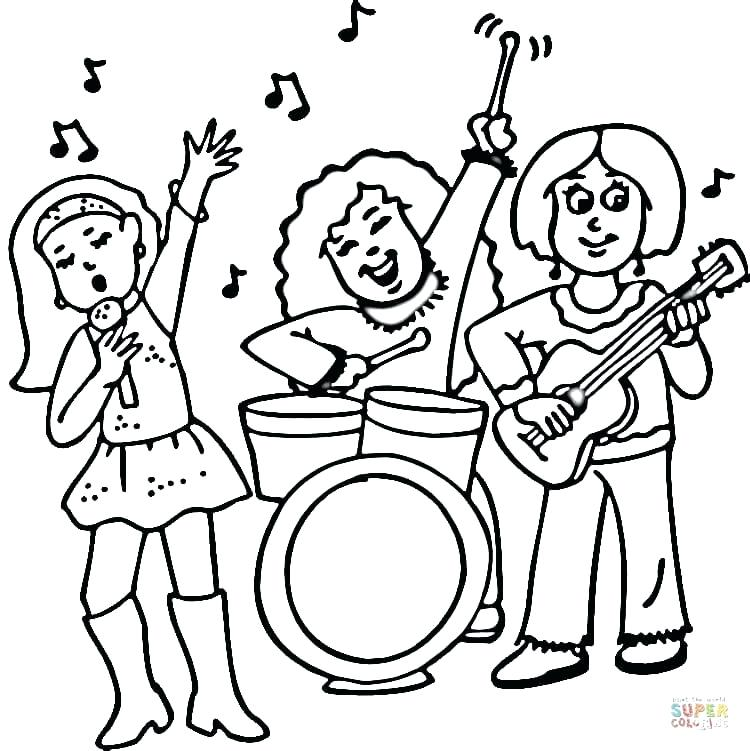750x751 Rock N Roll Coloring Pages Rock And Roll Coloring Pages Cool Stuff