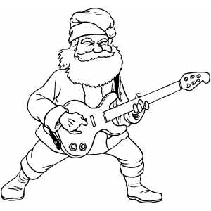 300x300 Santa Rock And Roll Coloring Page