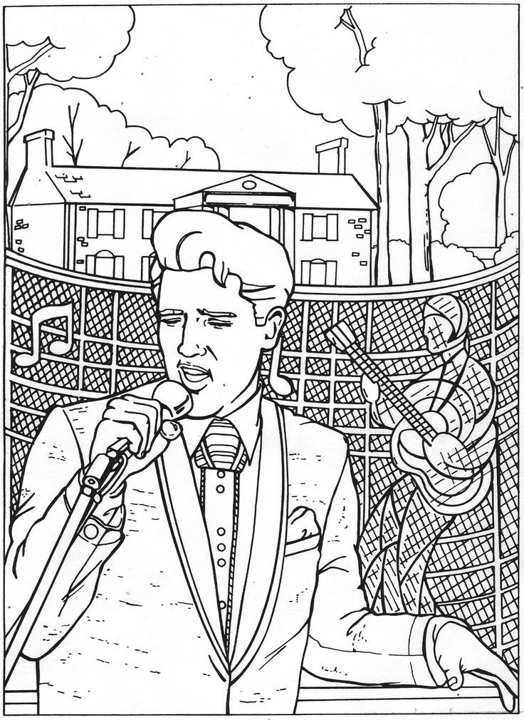 736x1010 Elvis Presley Coloring Pages Bestofcoloring Sheets Printable