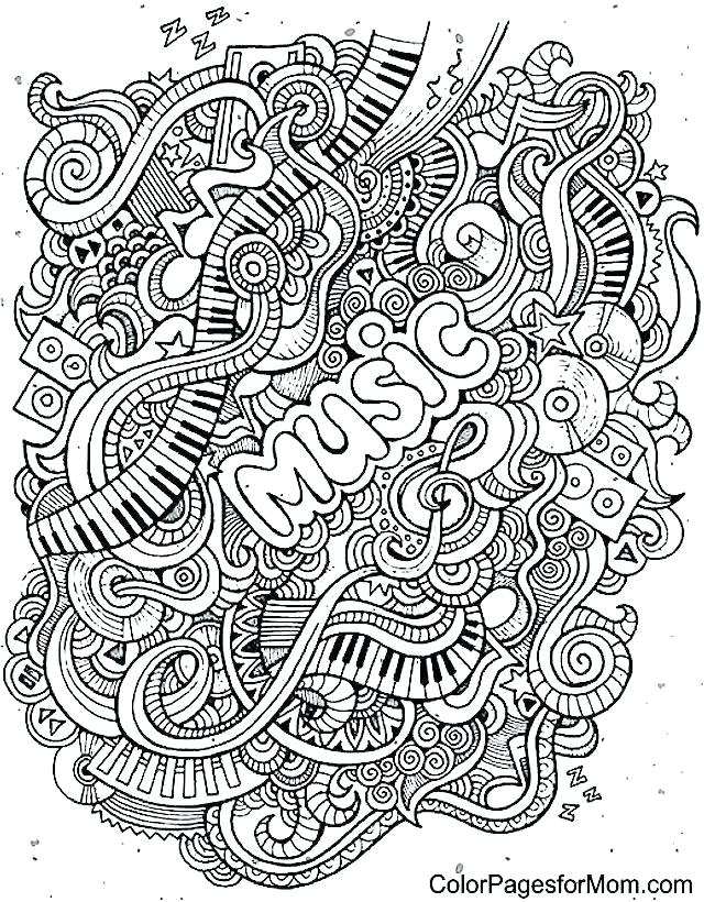 640x820 Free Printable Doodle Coloring Pages Rock N Roll Coloring Pages