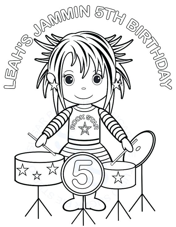 570x738 Rock Star Coloring Pages The Rock Coloring Pages Rock Coloring