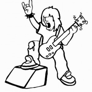 300x300 Rock Star Coloring Pages Birthday Printable