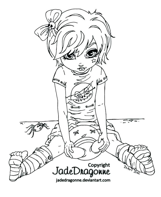 671x819 Goth Coloring Pages Coloring Pages Medium Size Of Coloring