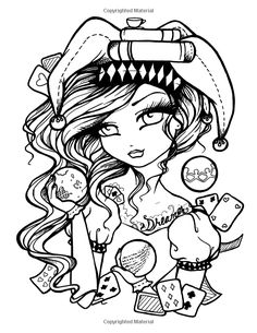 236x305 Tattoo Darlings Free Sample Coloring Page! Rockabilly Girl