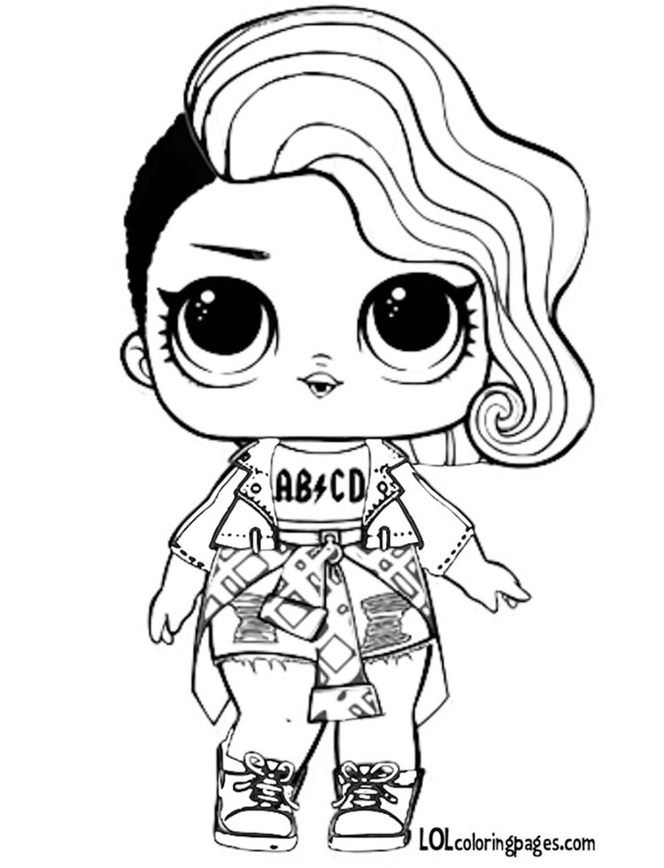 Rocker Coloring Pages At Getdrawings Com Free For Personal